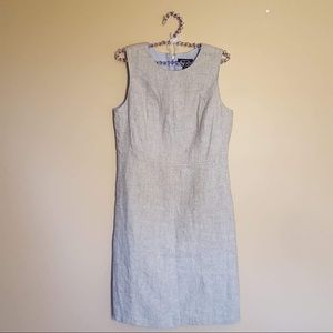 Lands end grey silver linen blend dress size 4